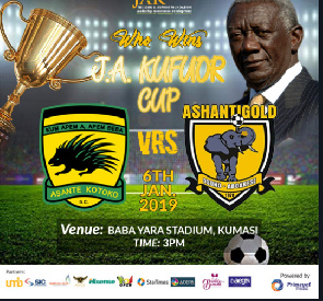JA Kufuor Cup: Kotoko to play Ashgold in rematch to decide winner