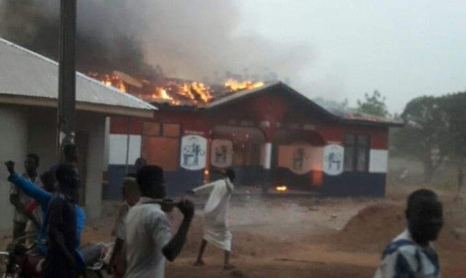ANGRY SALAGA YOUTH SET NPP OFFICE ABLAZE OVER CITING OF REGIONAL CAPITAL
