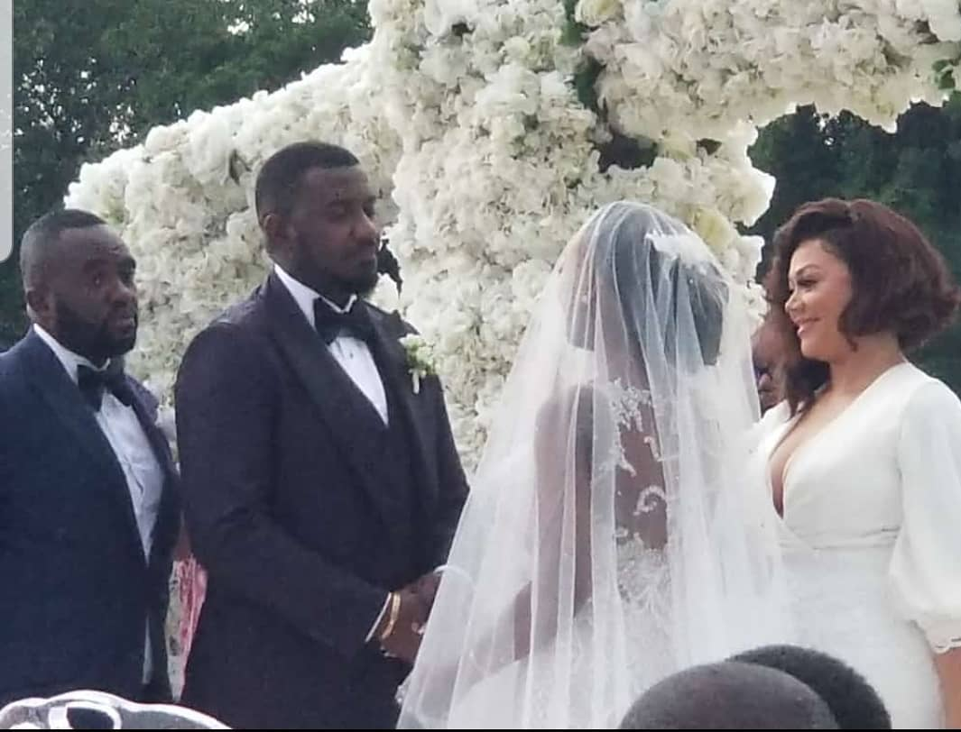 Exclusive videos and photos from John Dumelo and Gifty Mawunya Nkornu's white wedding.